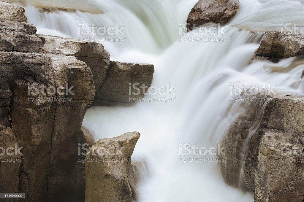 Sunwapta Falls up close royalty-free stock photo