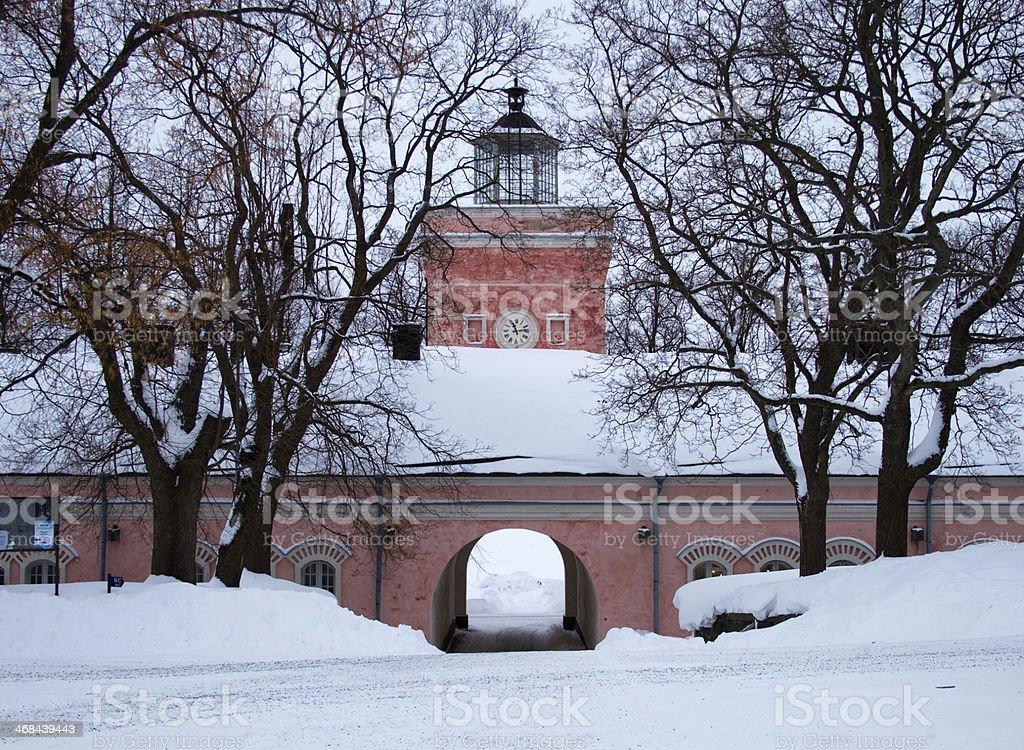 Suomenlinna fortress in Helsinki, Finland stock photo