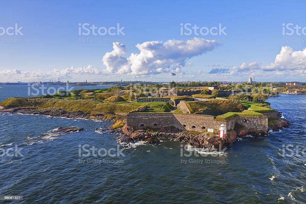 Suomenlinna fortress in Helsinki, Finland royalty-free stock photo