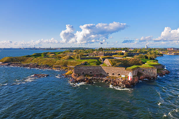 Suomenlinna fortress in Helsinki, Finland stock photo