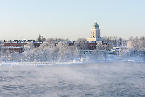 Suomenlinna in Helsinki, Finland at winter stock photo