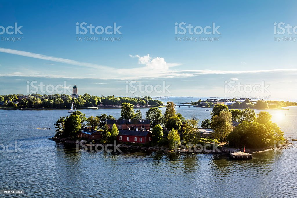 Suomenlinna Maritime fortress on the Islands stock photo