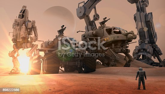 istock Super Army on The Mars 898222586