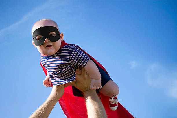 super bebé - baby super hero imagens e fotografias de stock