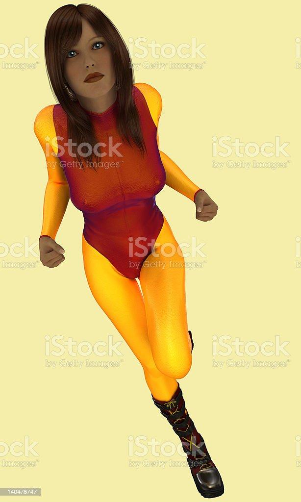 Super Bade Action Hero. royalty-free stock photo