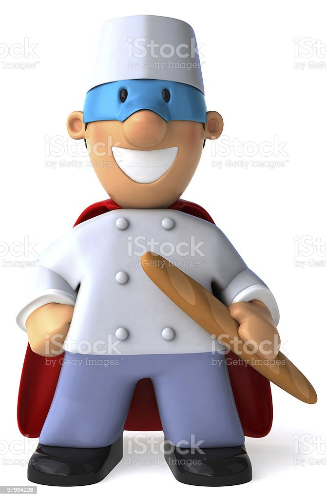 Super baker royalty-free stock photo
