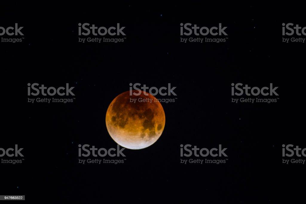 Super Blutmondes während der Mondfinsternis. – Foto