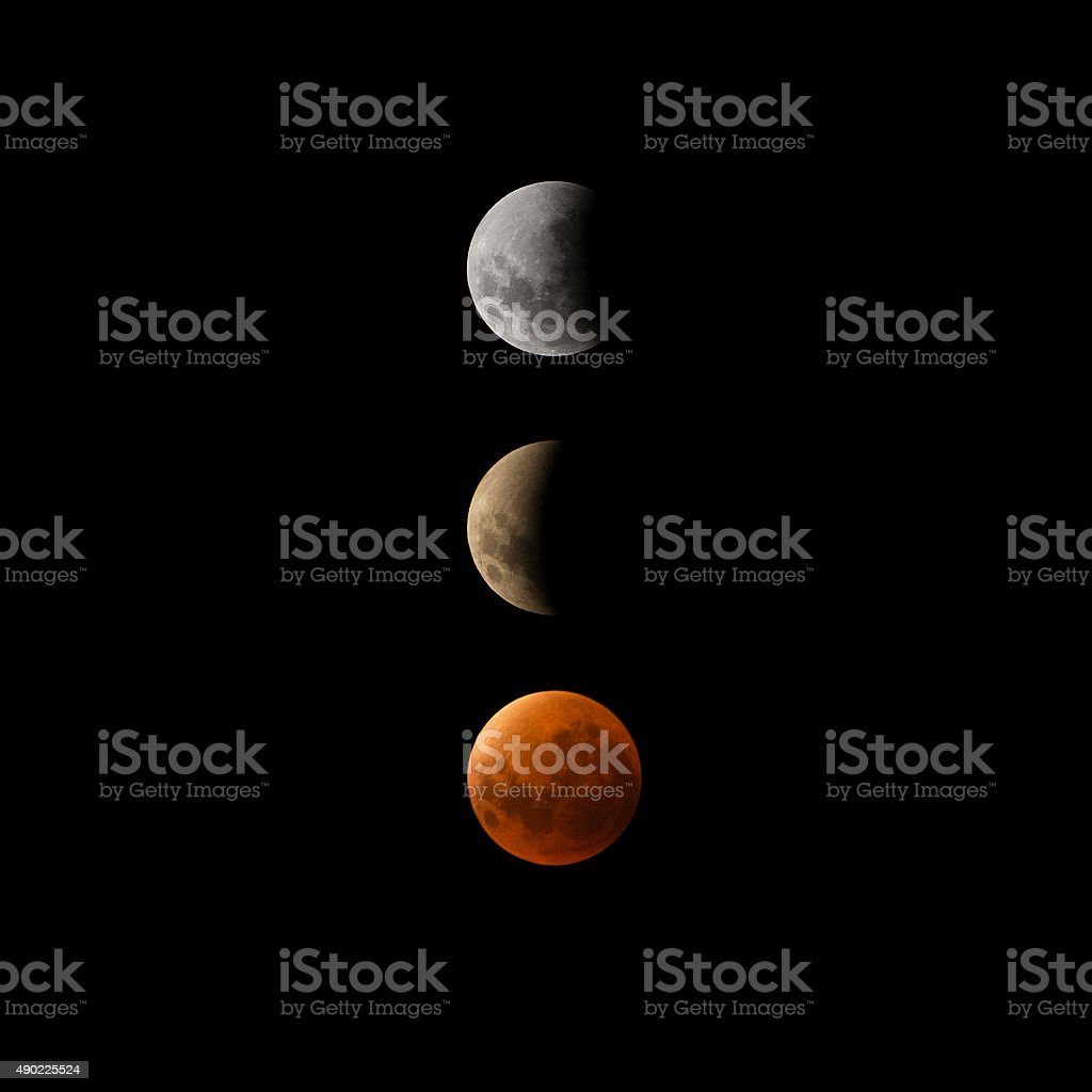 Super Blood Moon Eclipse 2015 stok fotoğrafı