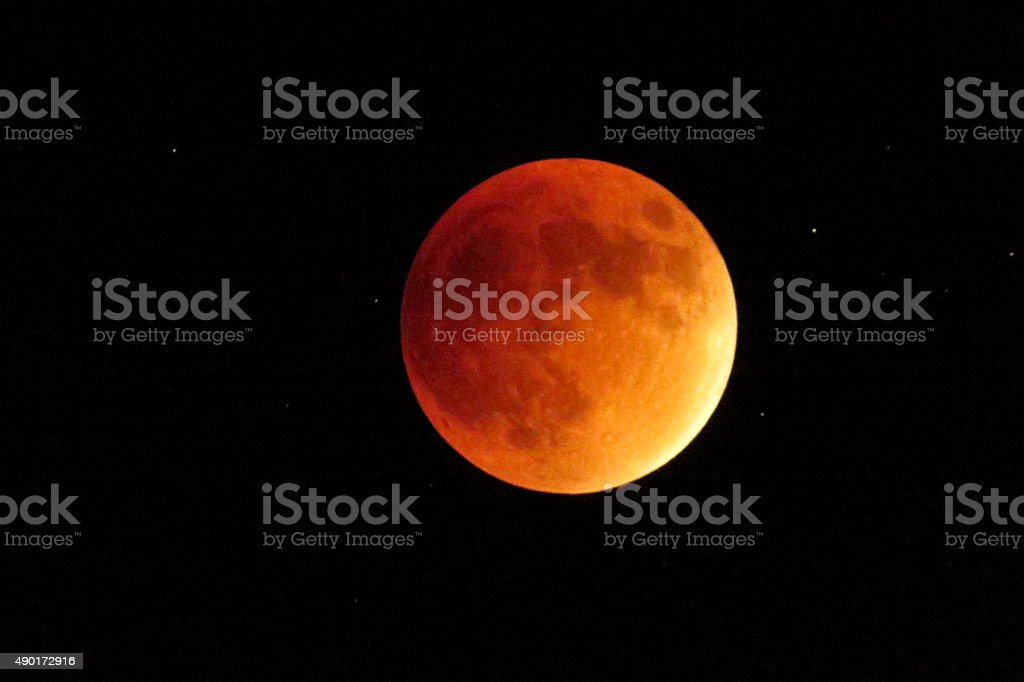 Super Blood Moon stock photo