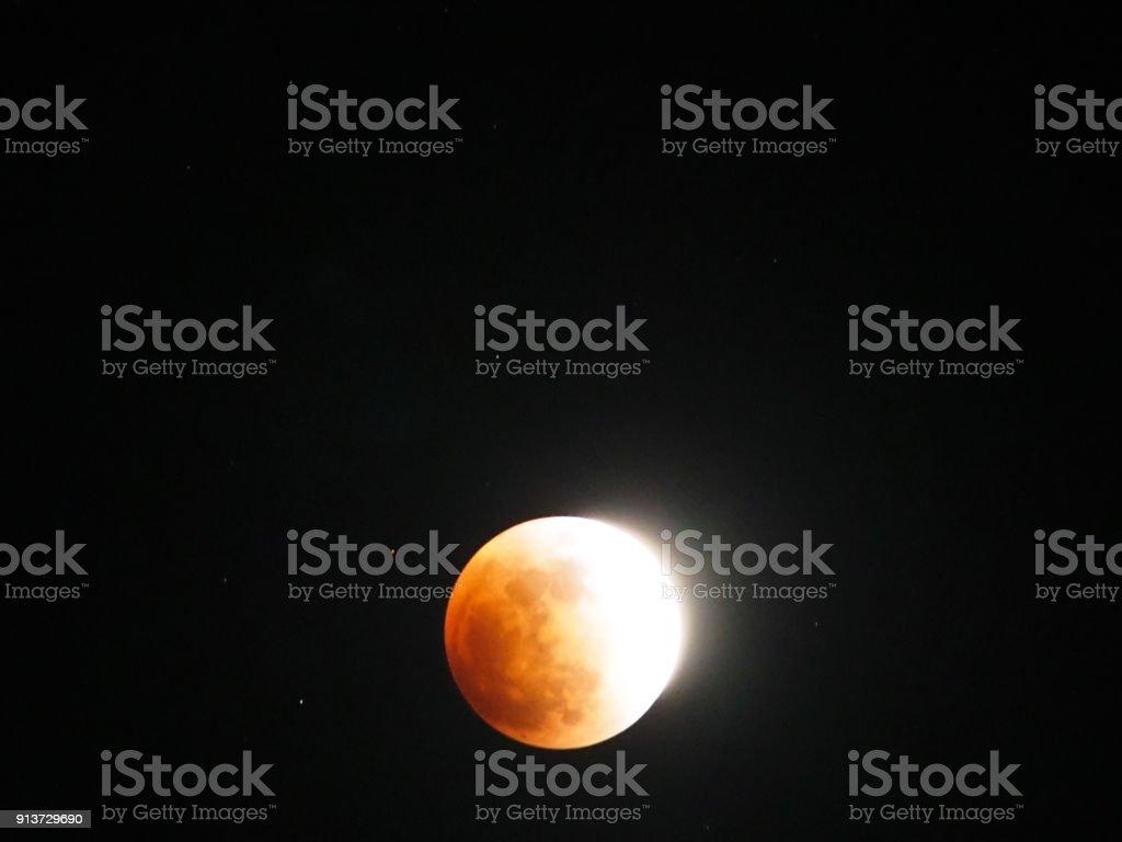 Super universeBlue Blood Moon on January 31, 2018 in Tokyo,Japan.