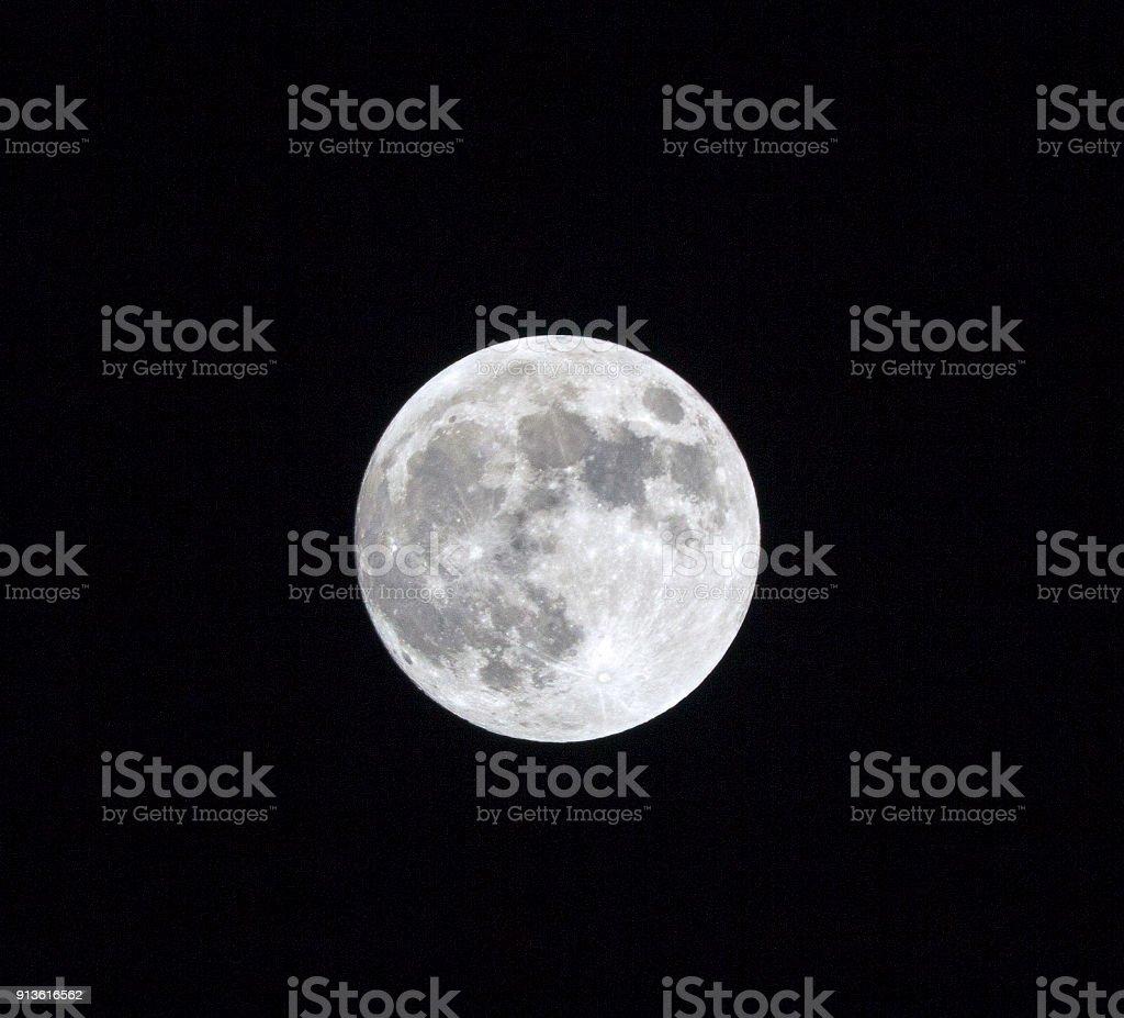 Super Blue Blood Moon_ January 31, 2018 stock photo
