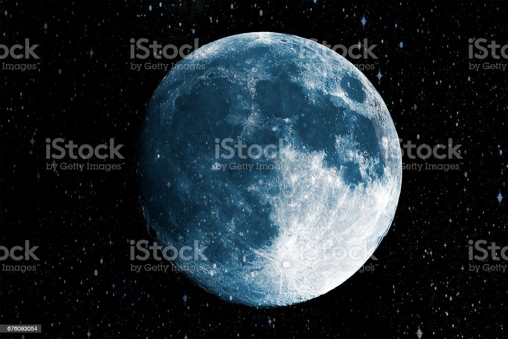 Super blue moon in the galaxy background, Elements of this image furnished by NASA stock photo