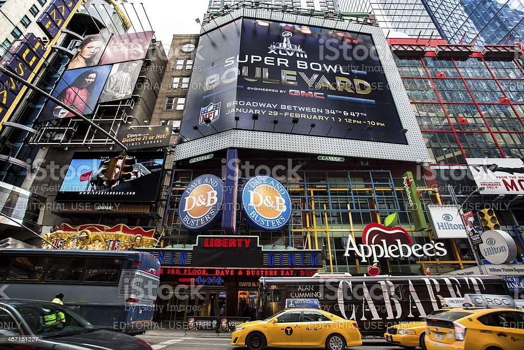 Super Bowl Boulevard stock photo