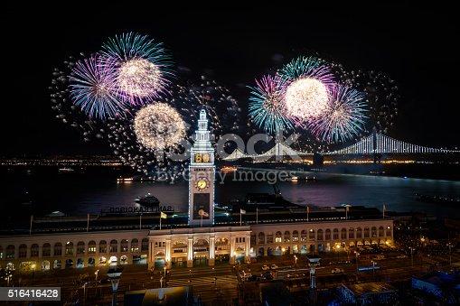 istock Super Bowl City Fireworks 516416428
