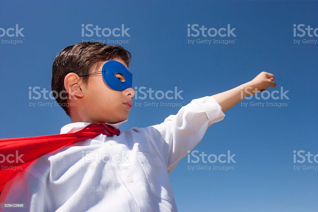 Super boy concept stock photo
