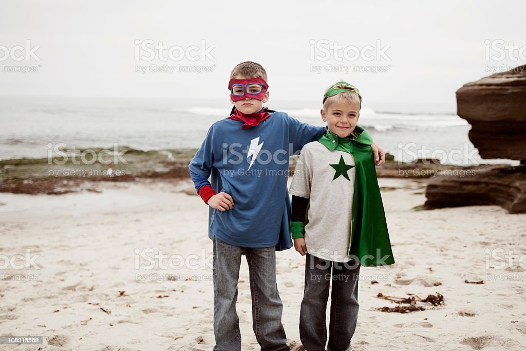 Super Brothers royalty-free stock photo