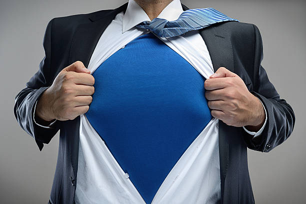 super businessman - shirt stock photos and pictures