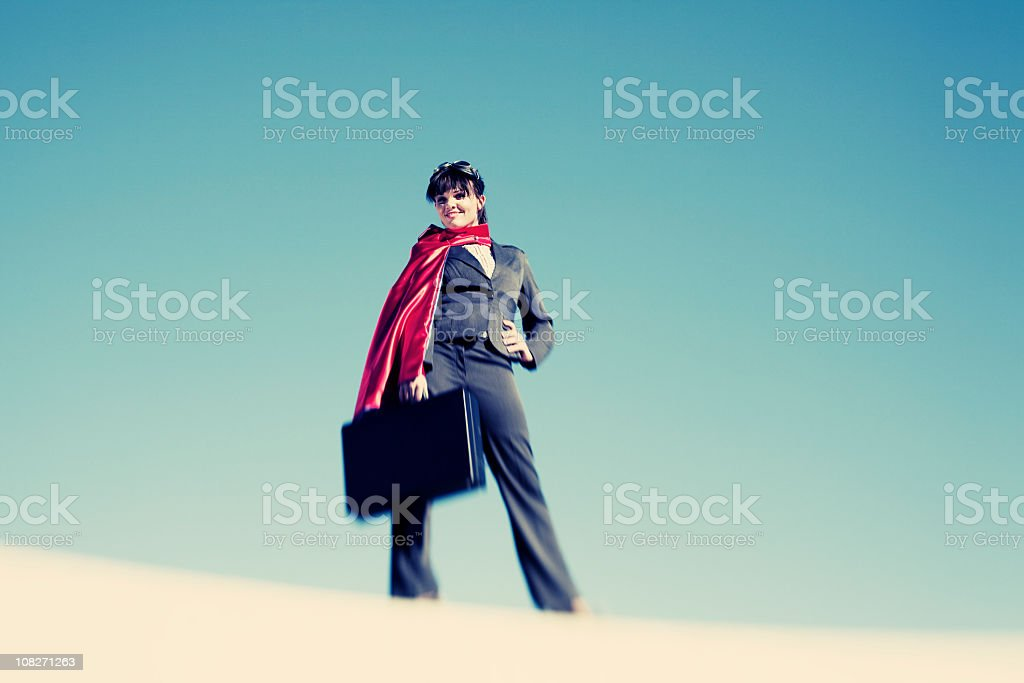 Super Businesswoman stock photo