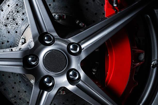 Super car disc brake stock photo