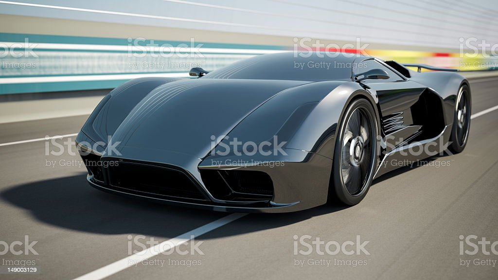 Super Car on Race Track stock photo