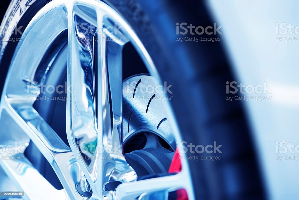 Super Car Ventilated Brakes stock photo