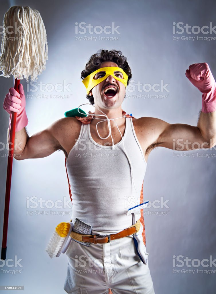 Super Cleaner royalty-free stock photo