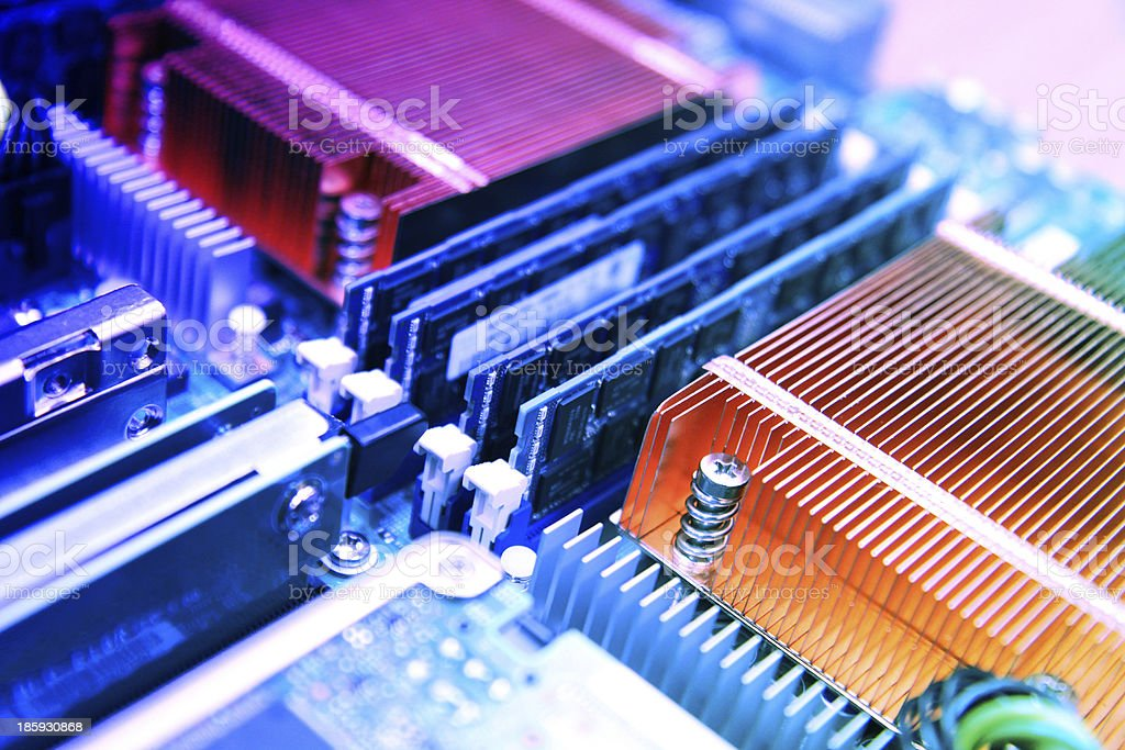 Super Computer Electronics Board stock photo
