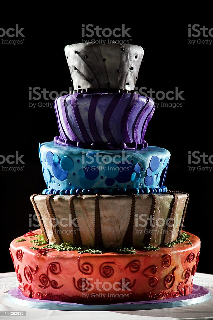 Super cool wedding cake - very funky and fun! royalty-free stock photo