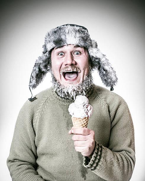 Super cooling ice cream stock photo