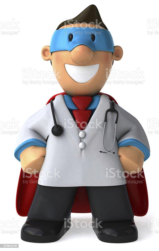 Super doctor royalty free stockfoto