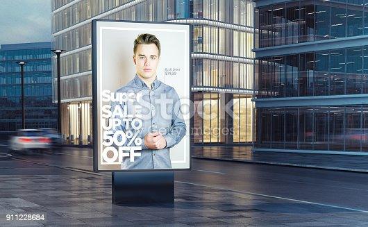 istock super fashion sale billboard on the street 911228684