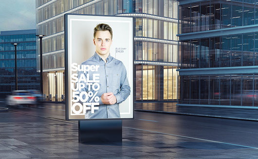 istock super fashion sale billboard on the street 911228684