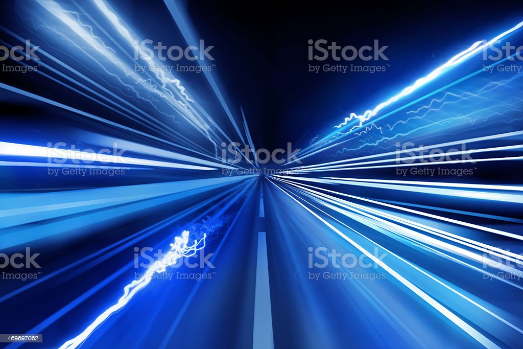 Super Fast Light Beams stock photo