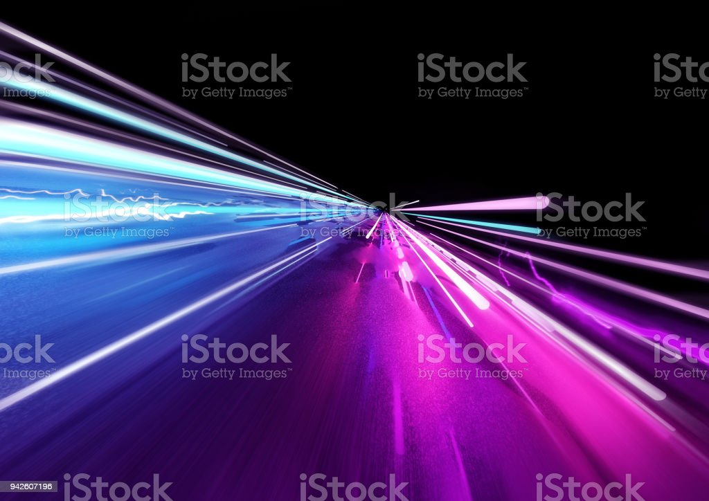 Super Fast Trailing Lights stock photo