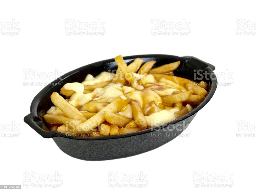 Super Fathy Pommes Frites mit Käse in der Soße (Poutine) – Foto