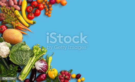 istock Super food background 526023441