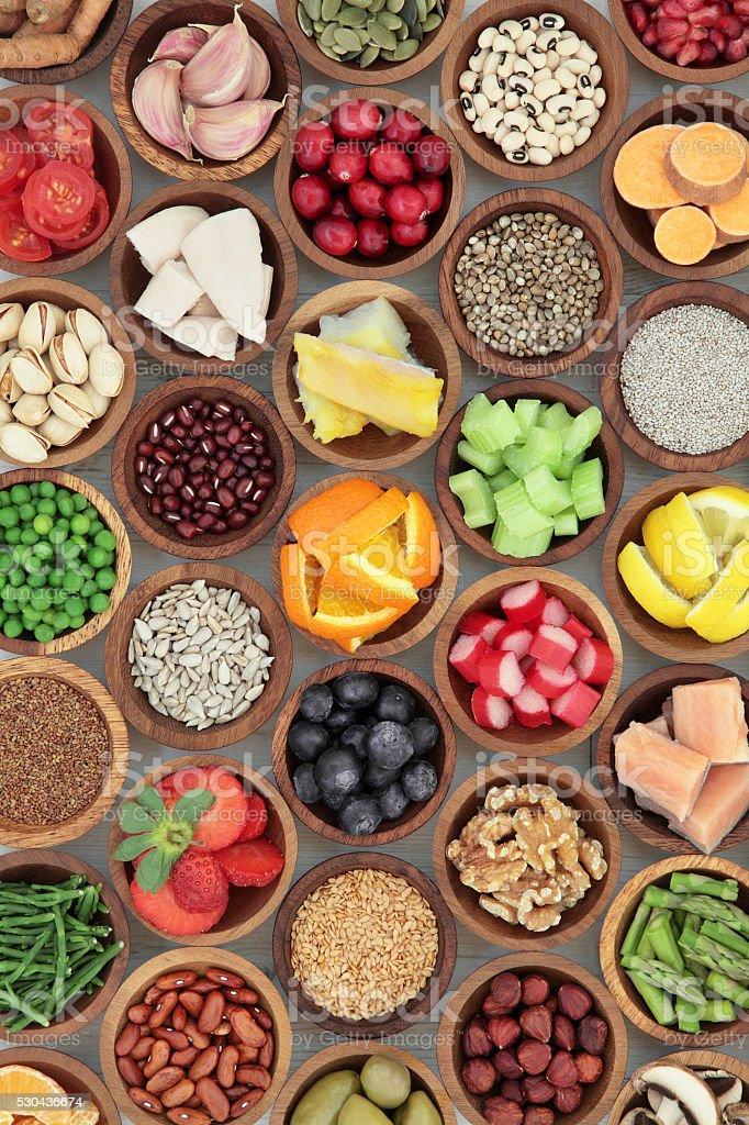 Super dieta selección de alimentos foto de stock libre de derechos
