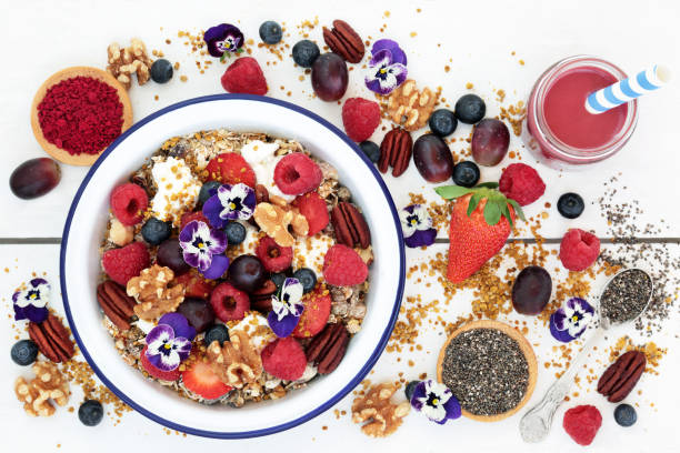 Super Food for a Healthy Breakfast stock photo
