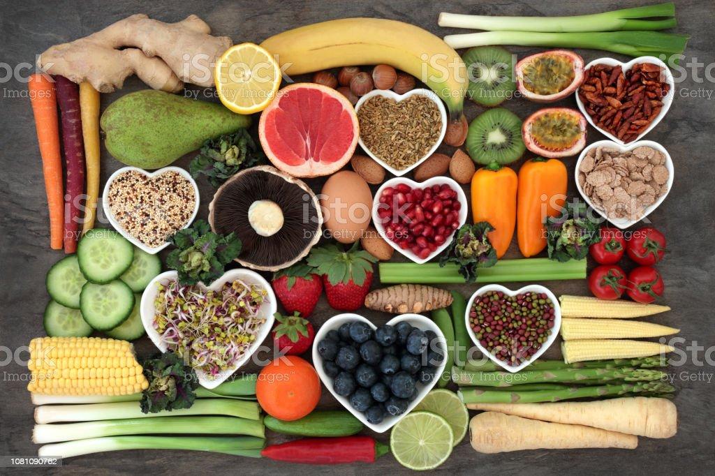 건강 한 다이어트를 위한 슈퍼 푸드 - 로열티 프리 0명 스톡 사진