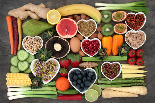 super food for a healthy diet - healthy food imagens e fotografias de stock