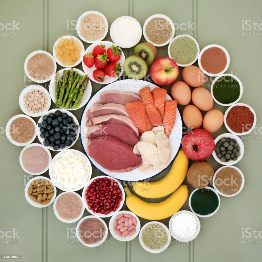 Super Food for Body Builders stock photo