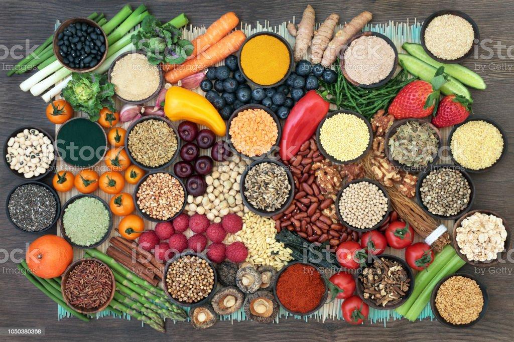 Super aliments pour la désintoxication du foie photo libre de droits