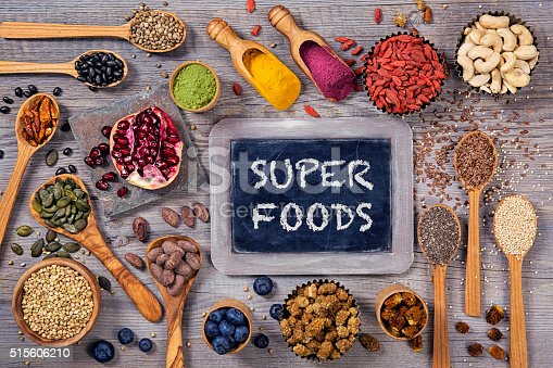 1005962360 istock photo Super foods in spoons and bowls 515606210