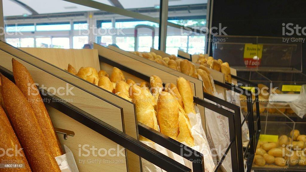 Super el pan francés - foto de stock