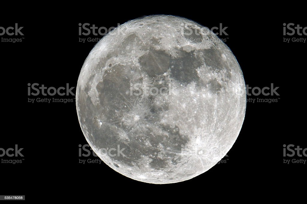 Super Full Moon stock photo