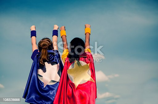 A young superhero duo. Vanquishing evil in a single afternoon. It is never too early to be super.