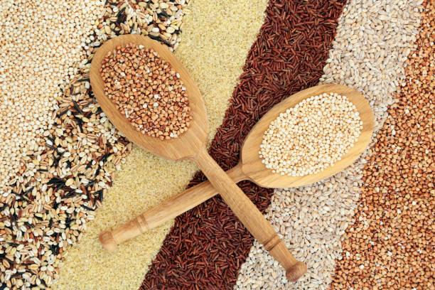 Super Grain Health Food stock photo