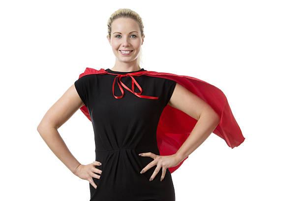 super hero at work - damen umhänge stock-fotos und bilder