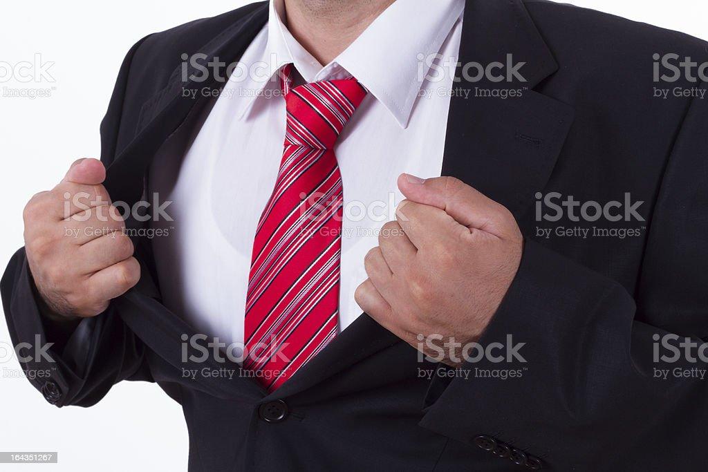 Super Hero Businessman Concept royalty-free stock photo