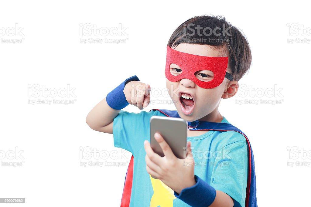 super hero call royalty-free stock photo